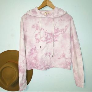 Sky & Sparrow for Tilly's tie dye cropped hoodie